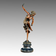 Bailarina Estatua Flor Señora Escultura De Bronce TPE-459