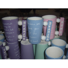 Ceramic Coffee Cup with Special Handle