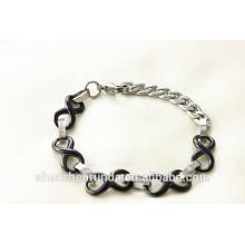 Alibaba nova chegada elegante bracelete de aço inoxidável dom