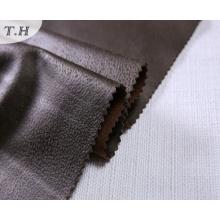2017 Tejido de cuero de ante marrón brillante para el sofá y la silla