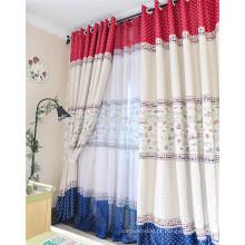 100% poliéster cortina de chuveiro tecido sala de estar cortina de janela