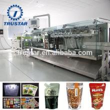 food packaging sterilization reusable spout pouches packing machine