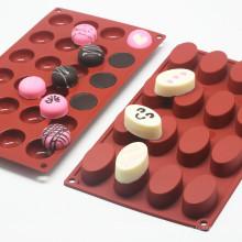 Moda Molde de Chocolate y Molde de Pastel de Silicona