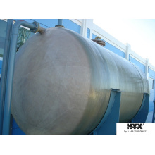 Tanque horizontal FRP para produtos químicos