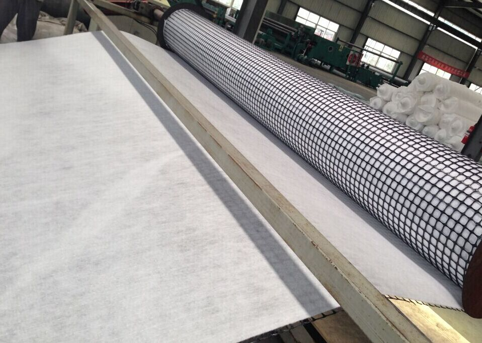 PP Biaxial Geogrid ร่วมกับ Geotextile
