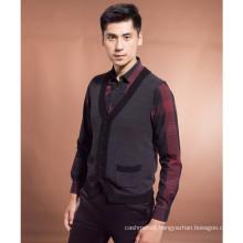 2016 Spring men's cashmere knitting cardigan vest