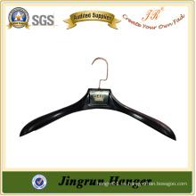 Suspensión plástica de plástico suspensión negro para la ropa