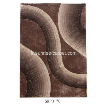 Polyester Silk Shaggy 4D Carpet