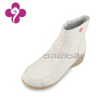 Hospital centro médico enfermeira sapatos senhoras inverno botas de couro branco