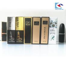 hochwertige laminat papier verpackung box für kosmetische lippenstift