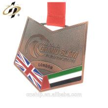 Médaille en cuivre faite sur commande antique d'alliage de zinc de BJJ Jiu-Jitsu du fabricant de porcelaine