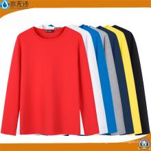 Venta al por mayor Camisetas de manga larga de algodón Hombres Camisetas de verano