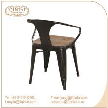 Triumph chairs with wooden seat / Marais metal dining armchair / Powder Coated Marai Cafe chair
