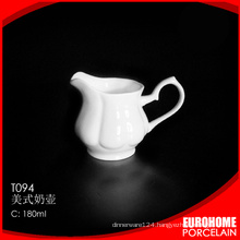 wholesale use in hotel pure white fine ceramic cow milk creamer