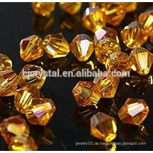 Großhandel 8mm Kristallglas Bicone Perlen
