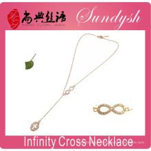 Infinity Collier Golden Cross Bijoux Collier Infinity Symbole Colliers