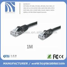 1m 3'Feet Noir CAT 6 CAT6 Gigabit 10/100/1000 Réseau Cat6 Câble réseau Ethernet Câble Oem