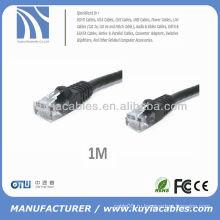 1m 3'Feet Black CAT 6 CAT6 Gigabit 10/100/1000 Сетевой кабель Cat6 Ethernet Сетевой кабель Oem