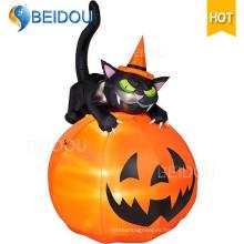 Inflables Halloween Decoraciones Esqueleto Inflable Halloween Negro Gato
