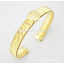 Pulseiras de ouro de aço inoxidável banhado a ouro 18k braceletes