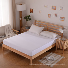 Wholesale White Hotel/Hospital Satin Strip Fitted Sheet (WSFI-2016024)