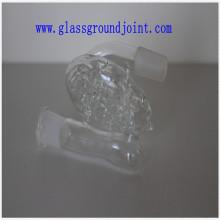 Borosilikatglas Wasserrohr mit Bodenfugen