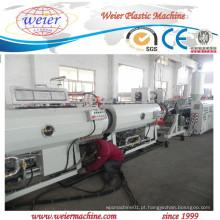 Linha da extrusão da produção da tubulação do PE para a fonte de água do gás por 15 anos de fábrica
