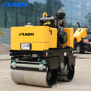 800kg Hydraulic Twin Drum Hand Roller Compactor