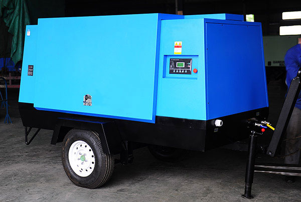 55KW Movable Screw Air Compressor