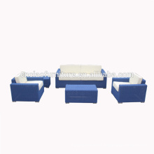 Muebles de lujo del patio moderno conjunto de mimbre de mimbre de mimbre