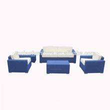 Mobília do pátio de luxo moderno sofá de vime rattan set