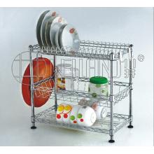 3 Tiers Chrome Metal Wire prato titular rack com patente