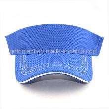100% poliéster de tela respirable sombrero de visera de golf (TRNV096)