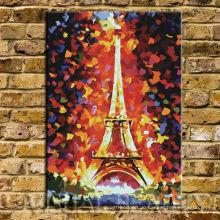 Paris Eiffelturm Palettenmesser Ölgemälde