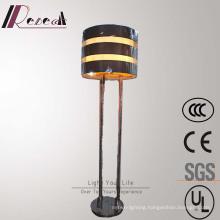 European Hotel Decorative Amber Fiber Iron Floor Lamp