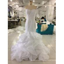 Aoliweiya Brand New Real Wedding Dress with Ruffles Skirt