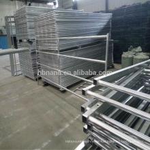 Galvanized Flat Panel Fence Gates / Sheep Goat Portable Metal Fence Panels