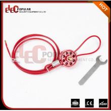 Elecpopular Productos de alta demanda Reutilizables Seguridad Tipo de rueda Cable Lockouts