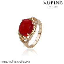 14754 xuping bijoux personnalisé signet style élégant 18 k or couleur bague pour les femmes