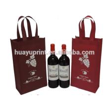 Sacs non tissés à vin rouge, sacs à vin, sacs non-tissés