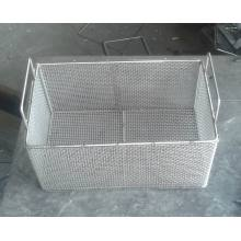 Stainless Steel Basket with Hand