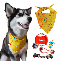 Dog Bandana Plus Set 5 Mainan Anjing