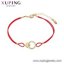 75539 xuping última moda venda quente com 14k banhado a ouro pulseira atacado