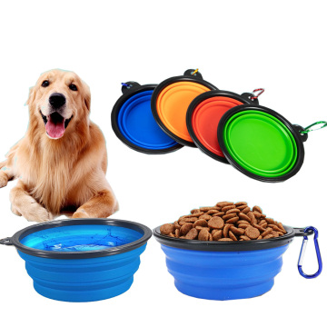 Tragbare zusammenklappbare Silikon Pet Feeder Dog Bowl