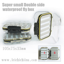 Super Small Double Side Waterproof Plastic Fly Fishing Box