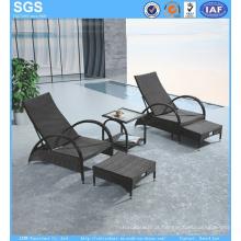 Mobília de praia Jardim Mobiliário de hotel Cadeira reclinável de Rattan