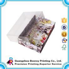Высокое качество пользовательского пустой Коробка шоколада картона с прозрачной крышкой