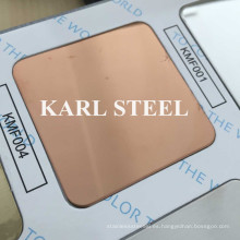 Hoja de espejo de color acero inoxidable 8k Kmf004 para materiales de decoración