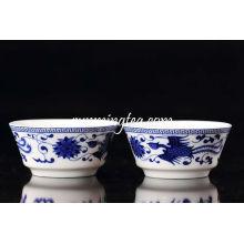 Blue Phoenix Painting Taça de cerâmica grande copo