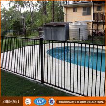 1200mm de alta seguridad negro de acero plana Top Pool fence para EE.UU. Ca Au Nz mercado